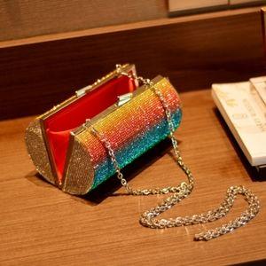 My Bag Lady Online Bags - Rhinestone Rainbow Evening Clutch